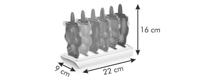 Формочки для домашнего мороженого из серии Tescoma BAMBINI 2014 года: размеры