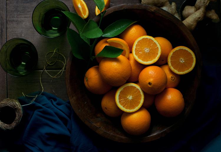 Фрукты для создания апельсиново-имбирного мороженого