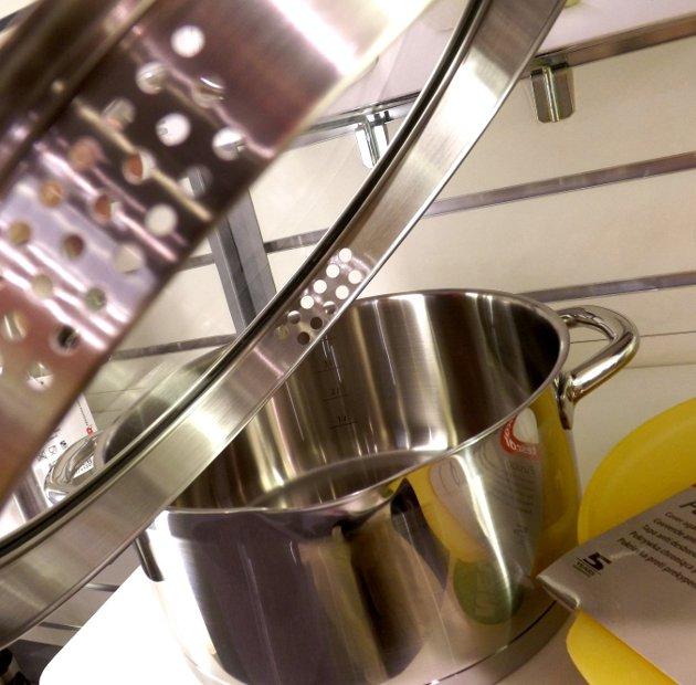 Крышка с отверстиями из набора посуды PRESIDENT из новинок от Tescoma, представленных на выставке HouseHoldExpo в сентябре 2015 года