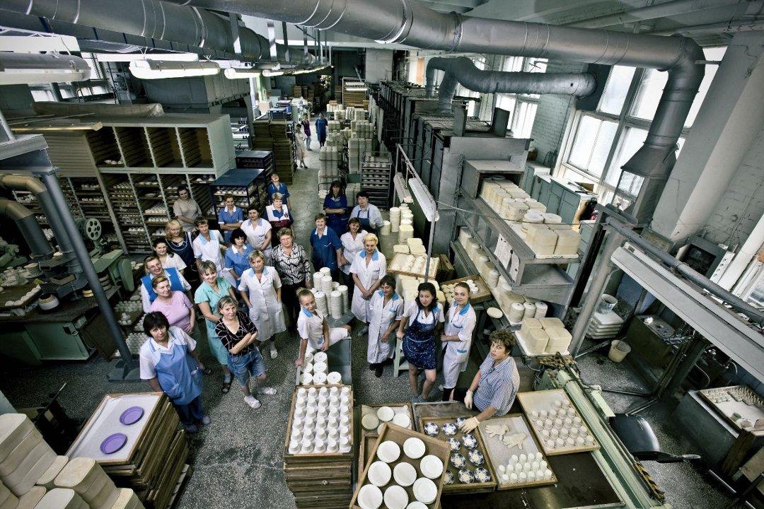 Цех костяного фарфора Императорского фарфорового завода в 2010-х годах