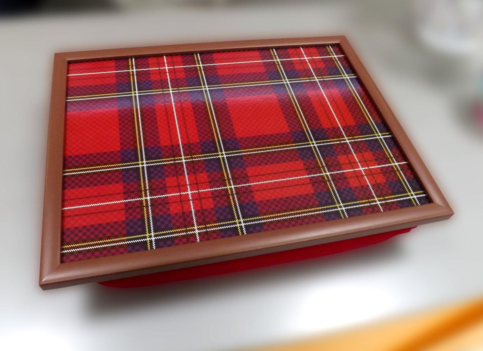 Поднос на подушке с изображением орнамента из повторяющихся полос от Top Art Studio
