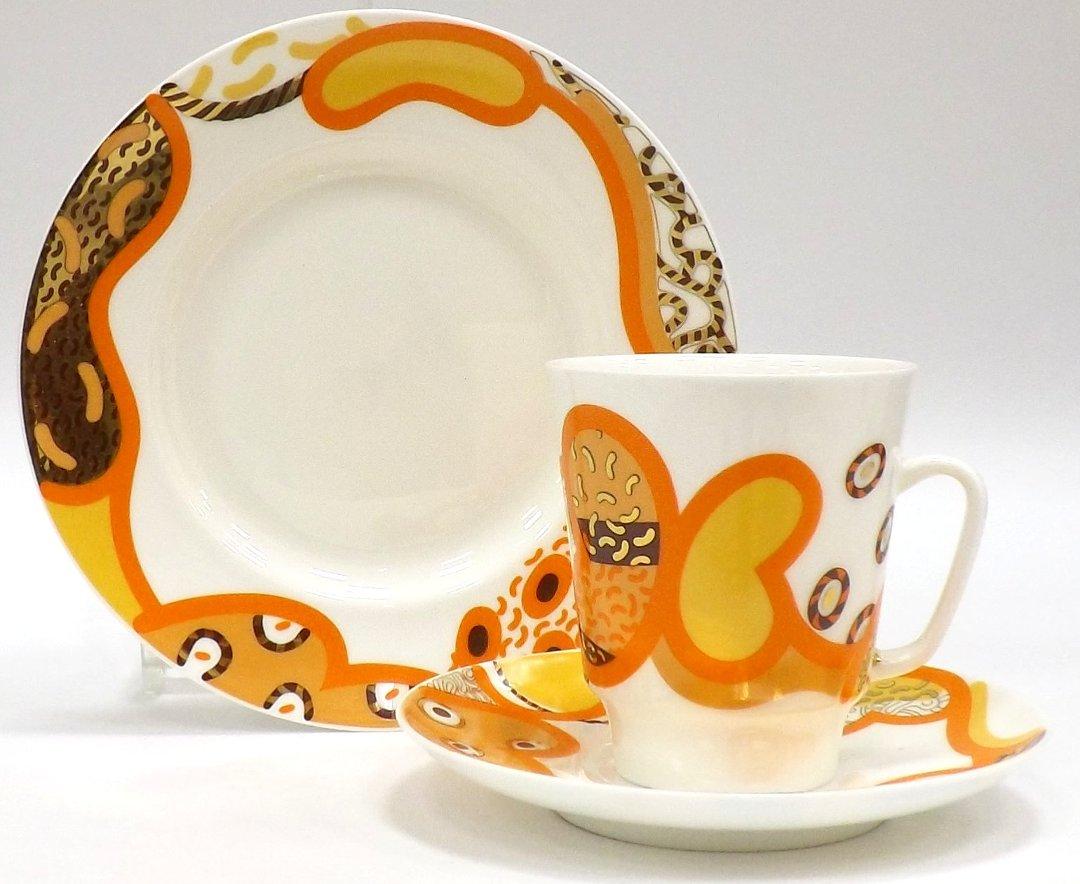 Кофейный набор из трёх предметов от ИФЗ, исполненный в форме Майская с изображениями на тему Мотив