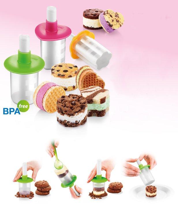 Формочки BAMBINI для создания сэндвичей с мороженым из ассортимента новинок от Tescoma, представленных в мае 2015 года