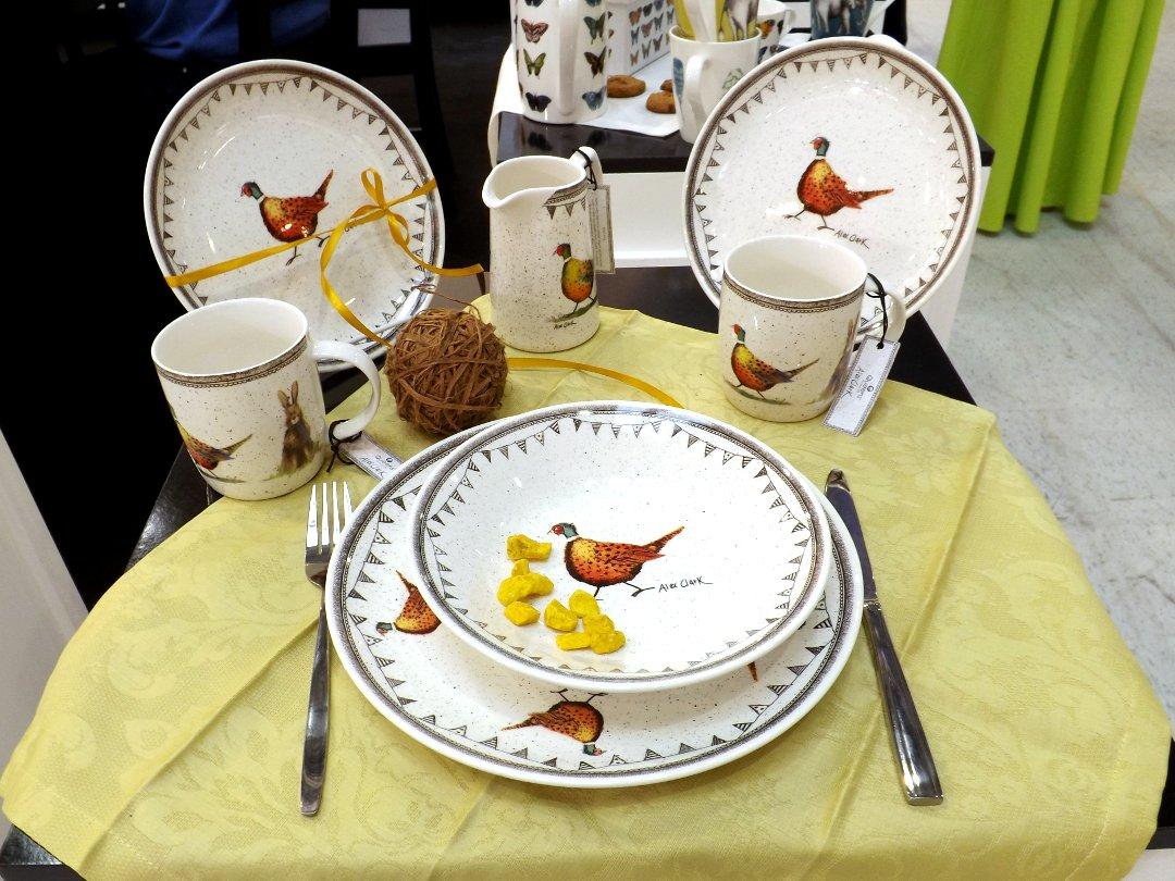 Керамическая посуда английского бренда Churchill на выставке HouseHoldExpo в сентябре 2016 года
