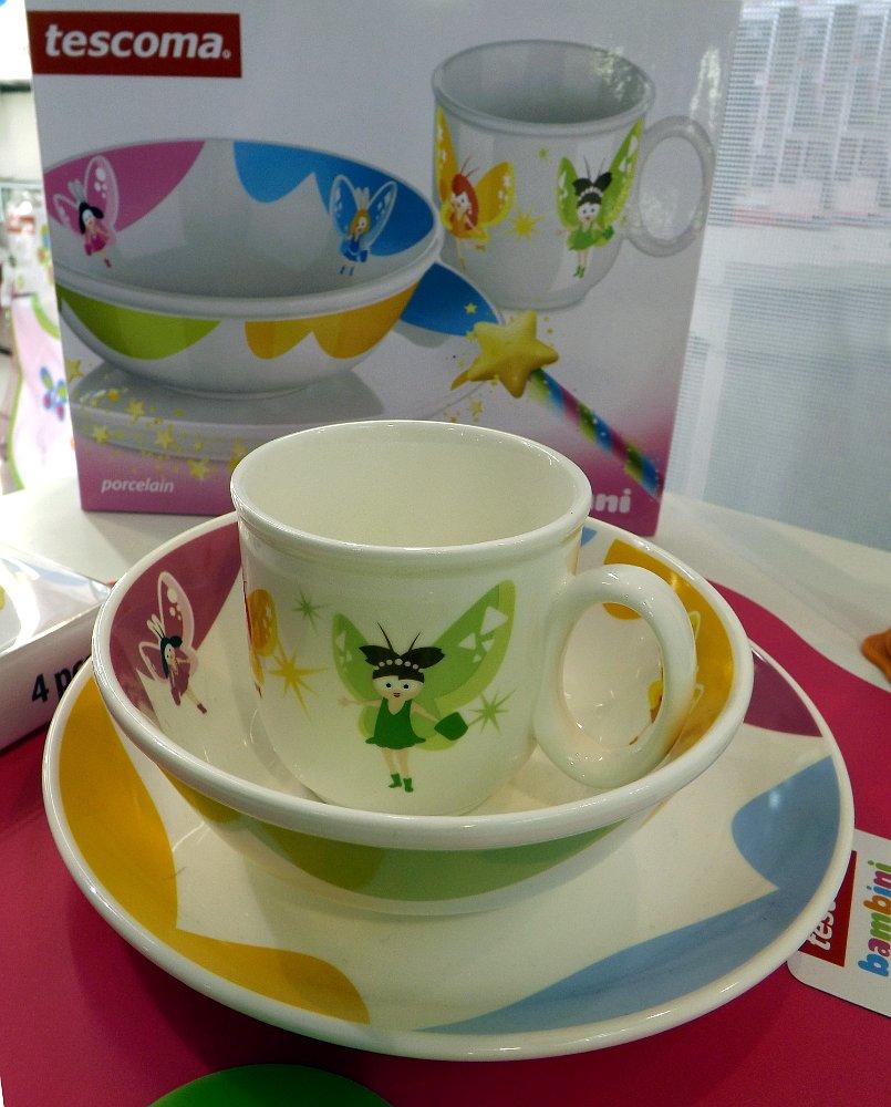 Детская посуда от Tescoma. Выставка HouseHold Expo в Москве, сентябрь 2013 г.