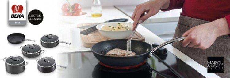 Посуда из кованного алюминия с керамическим покрытием - коллекция TITAN от компании Beka