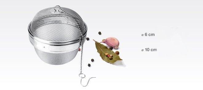 Сетчатые шары GrandCHEF из нержавеющей стали для бульонов, представленные специалистами Tescoma в апреле 2017 года