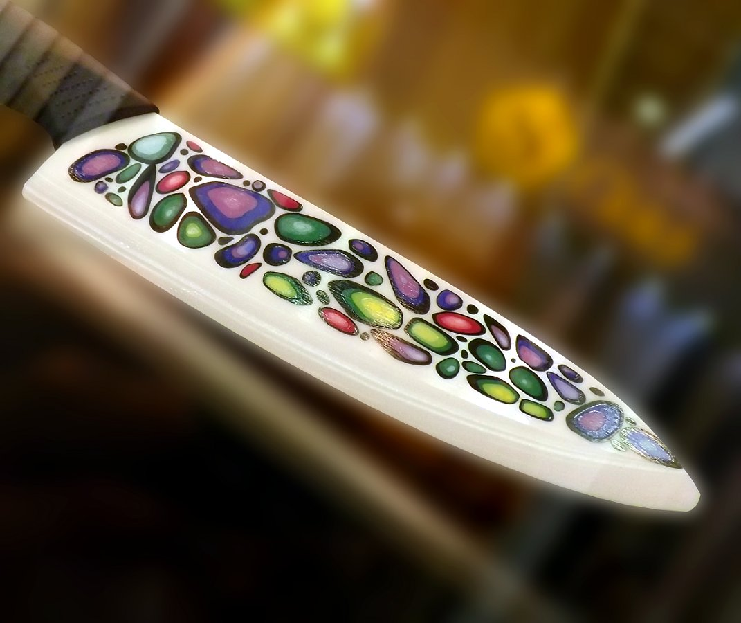 Лезвие керамического кухонного ножа Mikadzo IMARI на московской выставке Мебель-2013