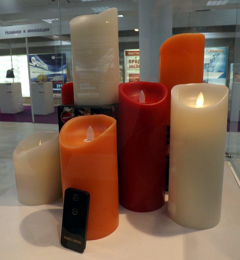 Имитация свечей из воска со светодиодами