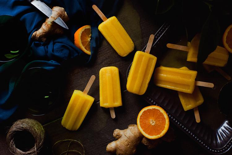 Апельсиново-имбирное мороженое и его составляющие
