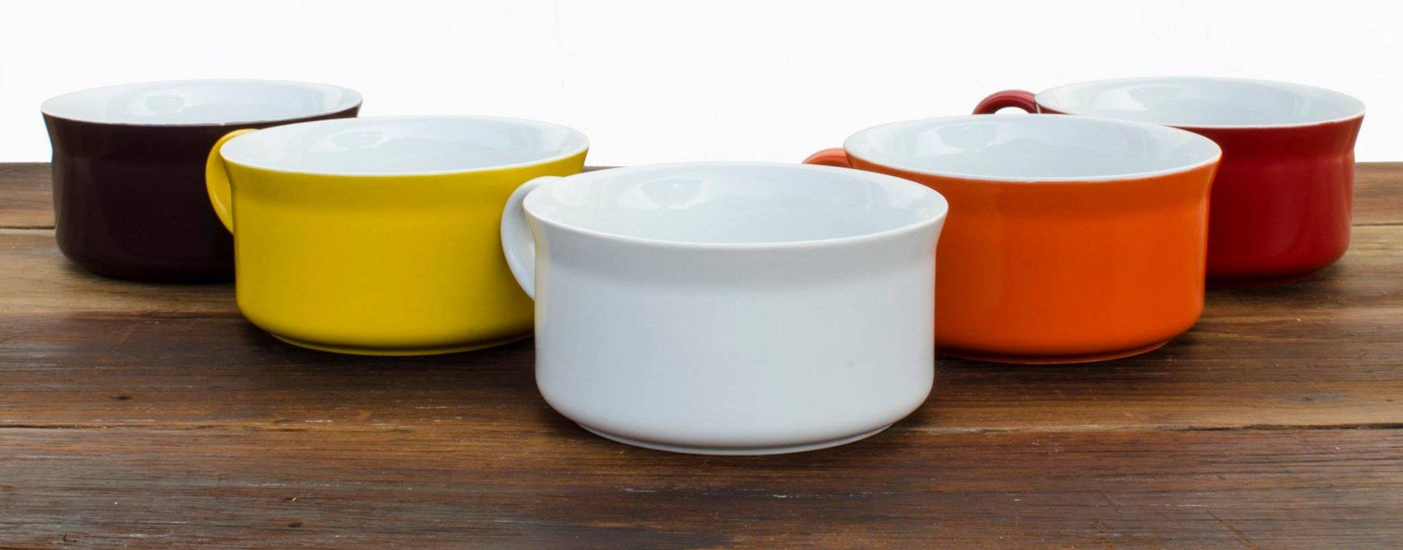 Новинки керамической посуды от Ceraflame 2014 года. Коллекция кружек для супа - вид А