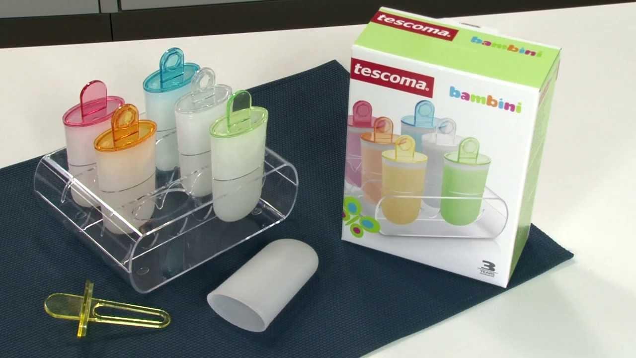 Формочки для мороженого Tescoma BAMBINI с подставкой-держателем