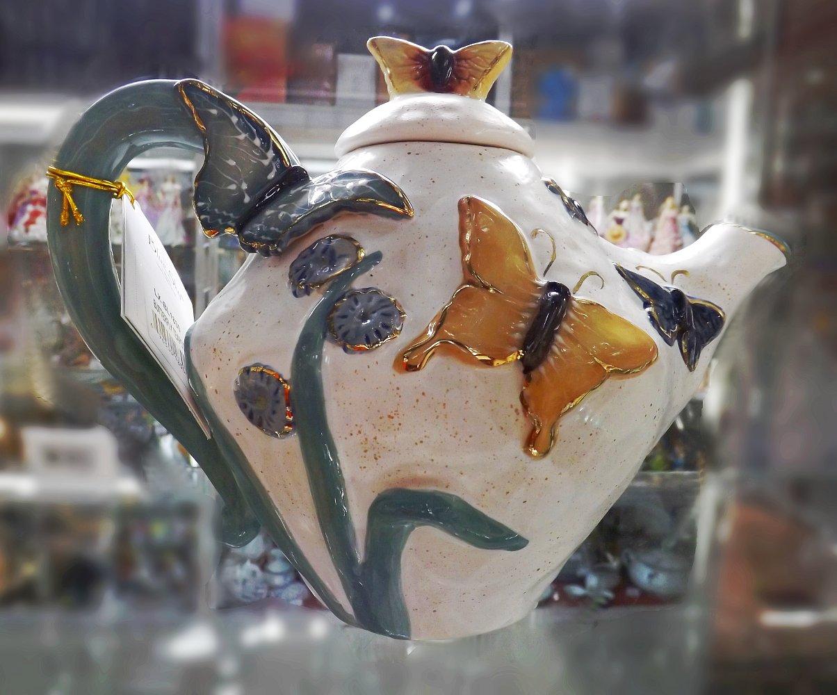 Керамический коллекционный чайник от Хизер Голдминк и Blue Sky