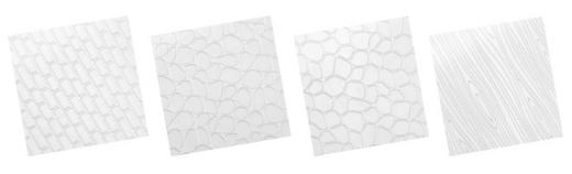 Шаблоны декоративных текстур DELICIA DECO, 41x25 см - кирпич, камень, дерево