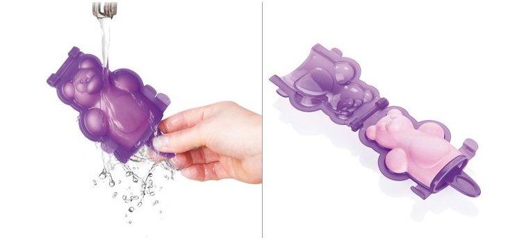 Формочки для домашнего мороженого из серии Tescoma BAMBINI 2014 года: иллюстрация процесса извлечения мороженого