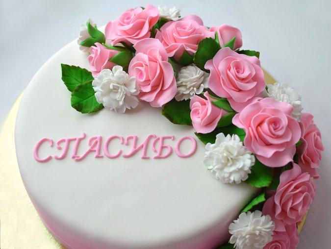 Торт украшенный элементами из ассортимента Лавки кулинара 2015 года