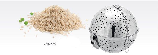 Дырчатые шары GrandCHEF из нержавеющей стали для приготовления каш, представленные специалистами Tescoma в апреле 2017 года