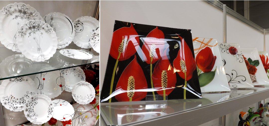 Керамическая и стеклянная посуда из Ирана на выставке HouseHoldExpo в сентябре 2016 года