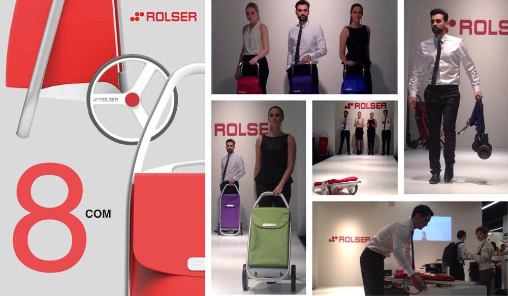 Сумки-тележки марки 8COM от Rolser - новинки 2015 года