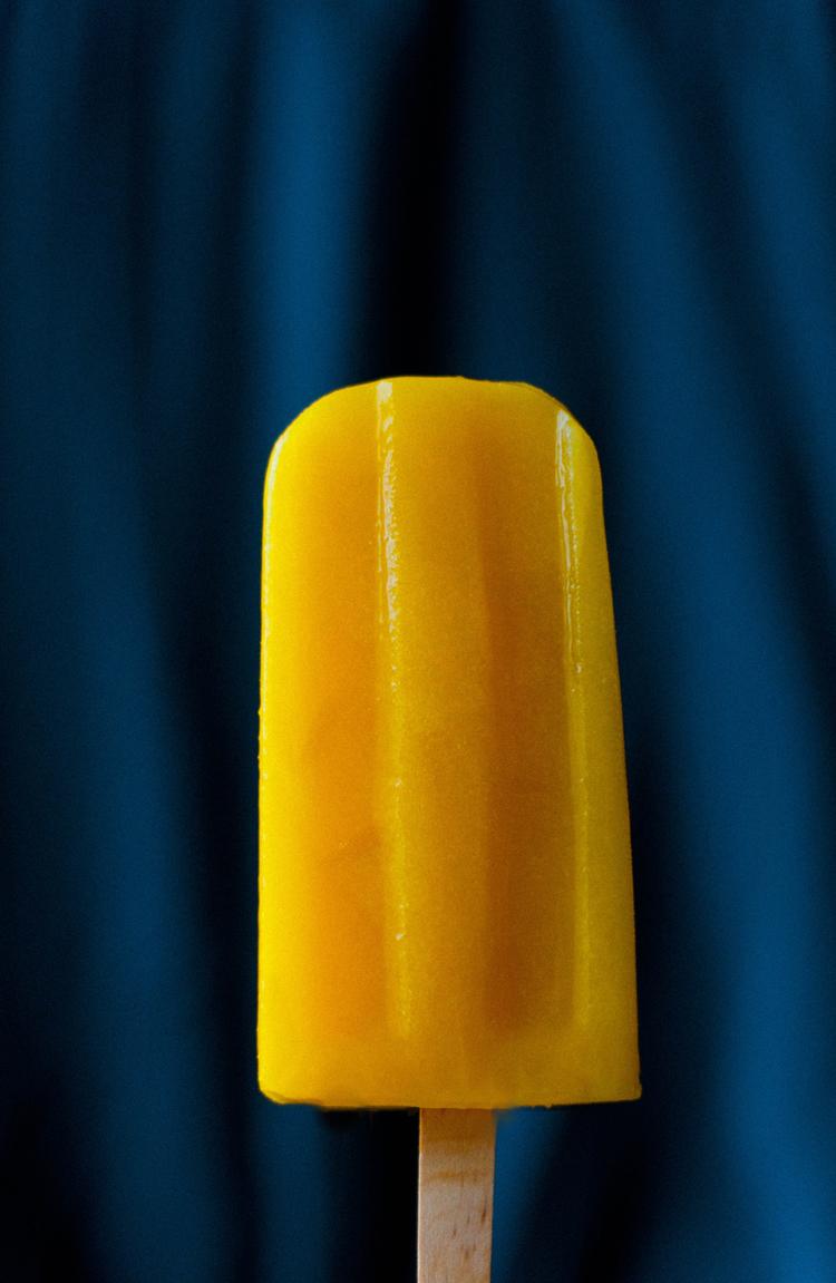 Внешний апельсиново-имбирного мороженого