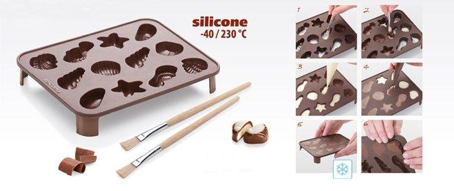 Силиконовая форма для бельгийского шоколада DELICIA CHOCO от Tescoma, представленная в мае 2016 года