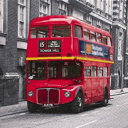 Салфетки для декупажа Автобус, 33x33см, 3 слоя, 20шт Paper+Design LN0695