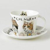 Чайная пара Roy Kirkham Коты модники, 450мл XANICAT1110