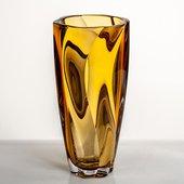 Ваза Crystalite Bohemia Барлей, 30.5см, амбер 8KH03/0/72S70/305