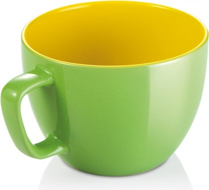 Кружка Tescoma Crema Shine Большая 590мл, зелёный 387194.25