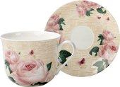 Чайная пара для завтрака 400мл Розы Парижа Creative Tops 5187370