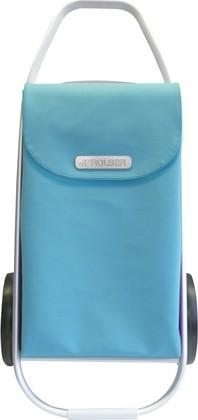 Сумка-тележка хозяйственная голубая ROLSER MF8 COH003aqua