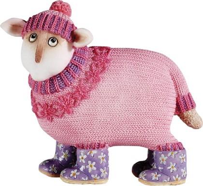 Статуэтка Забавная овечка Флора (Flora) 9см Enesco A6117