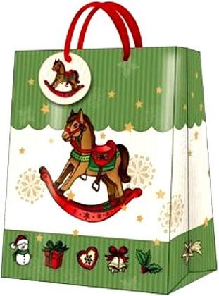 "Paw ROCKING HORSE Пакет подарочный ""Лошадка"", 26,3x33x13,5см, артикул AGB017305"