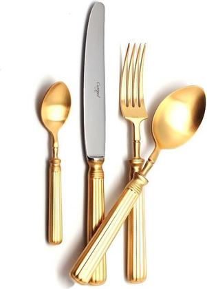 Набор столовых приборов Cutipol Line Matte Gold, 24 предмета, матовое золото 9172