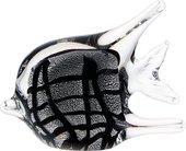 Фигурка стеклянная Top Art Studio Серебряная рыбка 12x9см ZB2625-AG