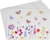 Подставки на пробке Lesser & Pavey Сад бабочек, 4шт, 30x23см LP94475