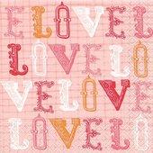 Салфетки для декупажа Любовь, 33x33см, 3 слоя, 20шт Paper+Design 21797