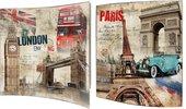 Модульная картина Top Art Studio Лондон-Париж 38x38см, пара, дерево, лак WDP1765-TA