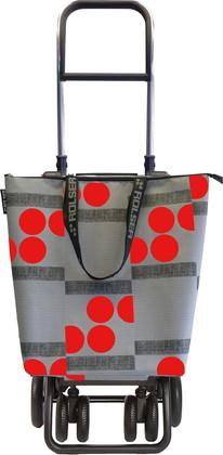 Сумка-тележка хозяйственная серо-красная Rolser LOGIC TOUR MINI BAG MNB023rojo