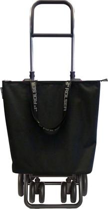 Сумка-тележка Rolser MF Mini Bag, поворотные колёса, складная, чёрная MNB021negro