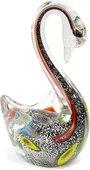 Фигурка стеклянная Top Art Studio Серебряный лебедь 9.5x16см ZB2639-AG
