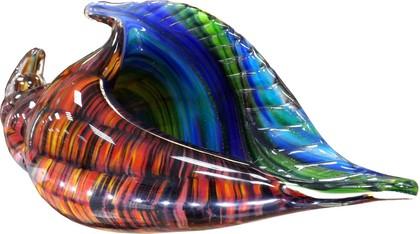 Фигурка стеклянная Ракушка карибская 28х10х15см Top Art Studio ZB1545-TA