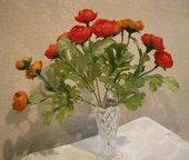 Цветок искусственный Ранункулус букетик-мини 22см, оранжевый Floralsilk 12490OR