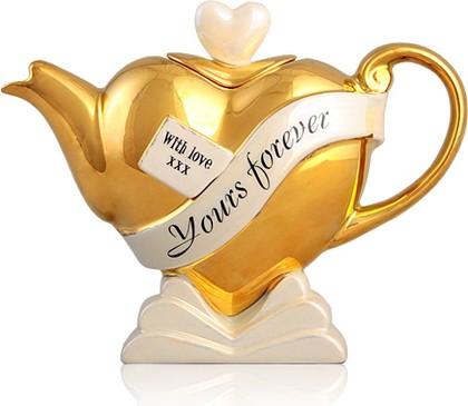 "Чайник коллекционный ""Горячее сердце"" (Heart Teapot ""I love you"") The Teapottery 4434"