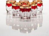 Стаканы для виски Сафари 6шт, 250мл, рубин-золото Crystalite Bohemia 2KD67K/0/432267/250