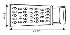 Тёрка с пластмассовой ручкой Tescoma Handy 643780.00