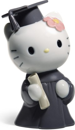 Статуэтка фарфоровая Выпускной день HELLO KITTY! (Hello Kitty Graduation Day) 13см NAO 02001750