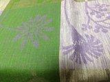 Скатерть льняная Лирика 145x145см сиренево-зелёная Белорусский лён 10c784/145x145/689/23