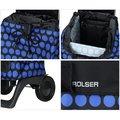 Сумка-тележка хозяйственная компактная сине-чёрная Rolser JOY-1800 BABY BAB001azul/negro