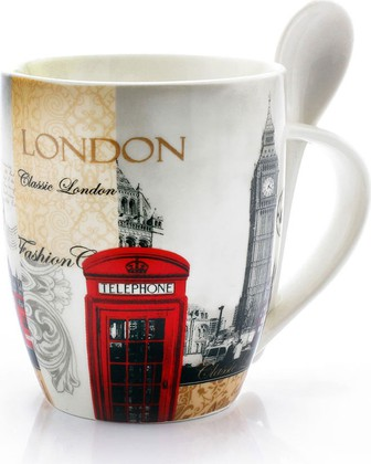 Кружка с ложкой Новый Лондон 325мл The Leonardo Collection LP19984